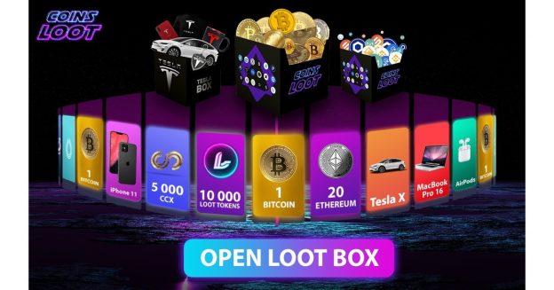 CoinsLoot Meluncurkan Kotak Jarahan Crypto Pertama di Dunia, Dengan 10% Crypto Gratis, Hadiah dan Hadiah Staking