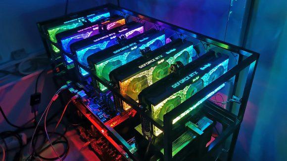 Palit GeForce RTX 3070 GameRock Ethereum Mining Rig