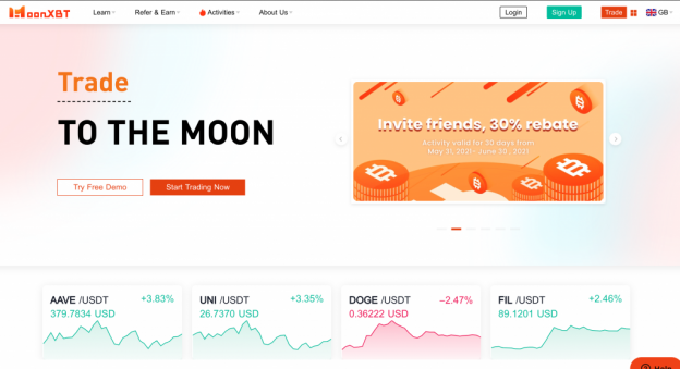 Ulasan MoonXBT: Platform Kontrak Ringan Crypto Generasi Baru