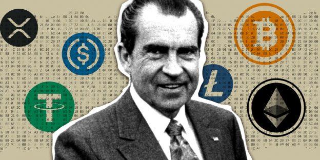 Nixon membentuk kembali ekonomi dunia 50 tahun yang lalu. Apakah crypto di ambang melakukan hal yang sama sekarang?
